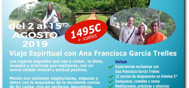 ¡COMPLETO! – Viaje Espiritual a Sri Lanka en Noviembre 2019 con Ana Francisca García Trelles