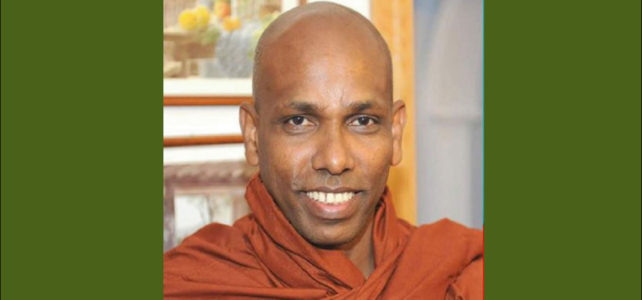 Rev Dr ILukpitiye Pannasekara Thero – Paz Mundial a través la Paz Interior